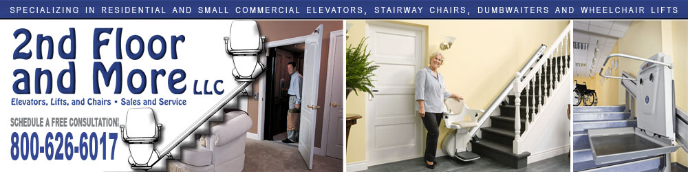 2nd Floor and More - Elevators, Wheelchair Lifts, Stairway Chairs and Dumbwaiters - Minnesota, Iowa & Wisconsin